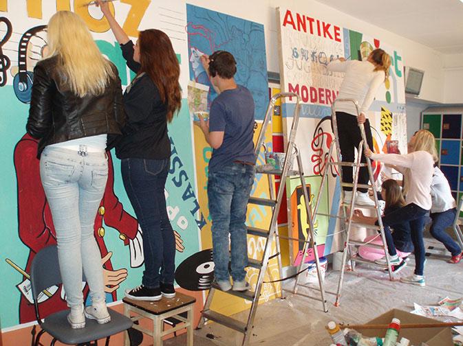 wandbilder schueler ernst-haeckel-schule 14