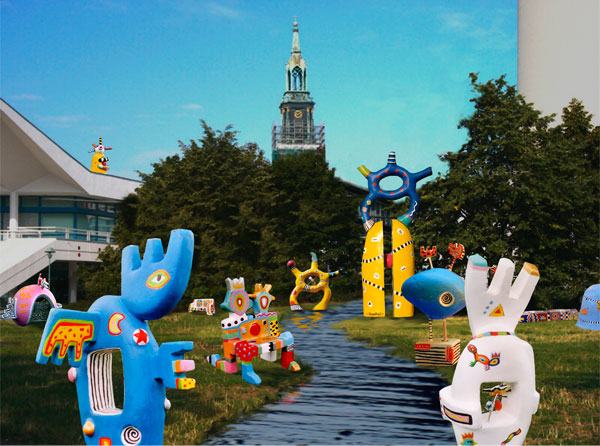 wasserspiele fernsehturm berlin alexanderplatz modelle