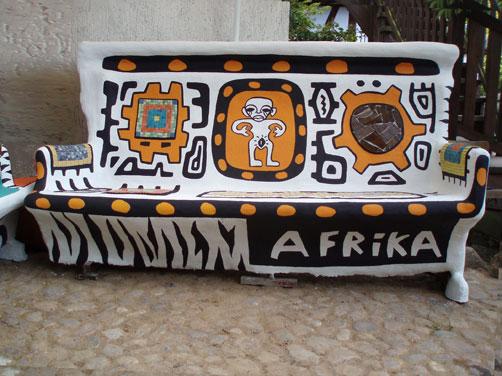 bench 'afrika' bad doberan töpferei jung