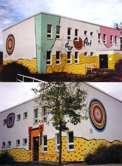 fassade kunstschule 'der art' berlin hellersdorf
