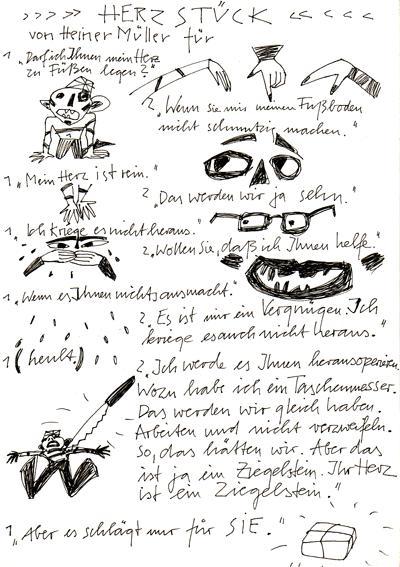 'herzstück' von heiner müller illustration