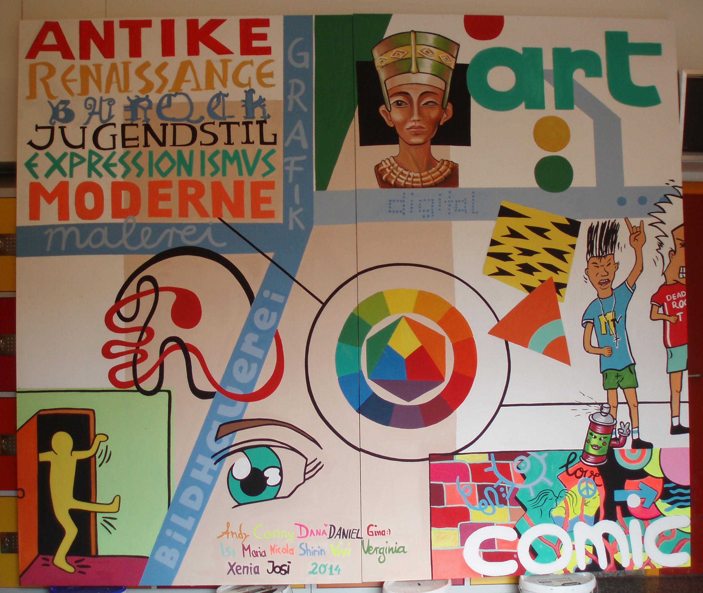 wandbild kunst schueler ernst-haeckel-schule 14