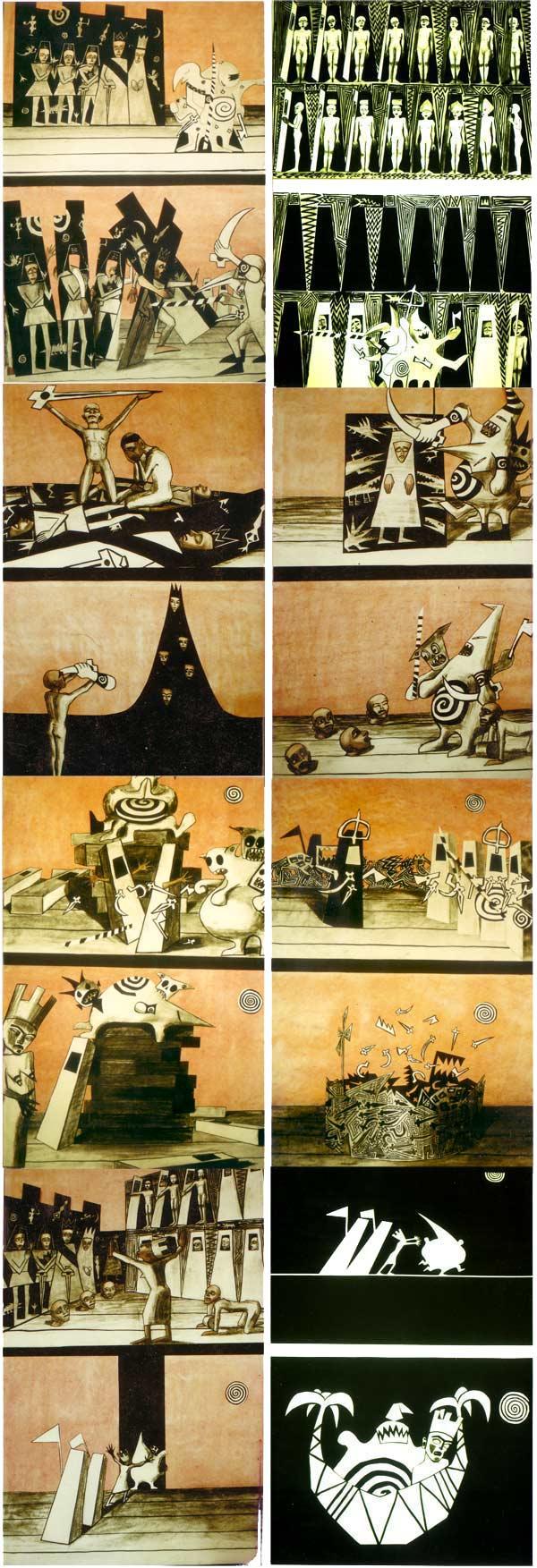 'roi ubu' szenografische illustrationen